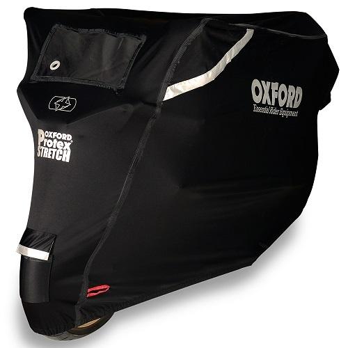 Husa Moto Exterior Oxford Protex Stretch Negru Marimea L CV162