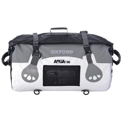 Geanta Moto Oxford 50L Aqua T-50 Gri Alb Marimea OS OL971