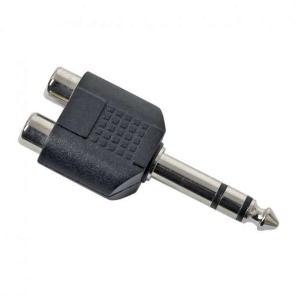 Adaptoare Y Rca/Jack  2 x Soclu Rca 6.3 Fisa Jack Stereo 05242