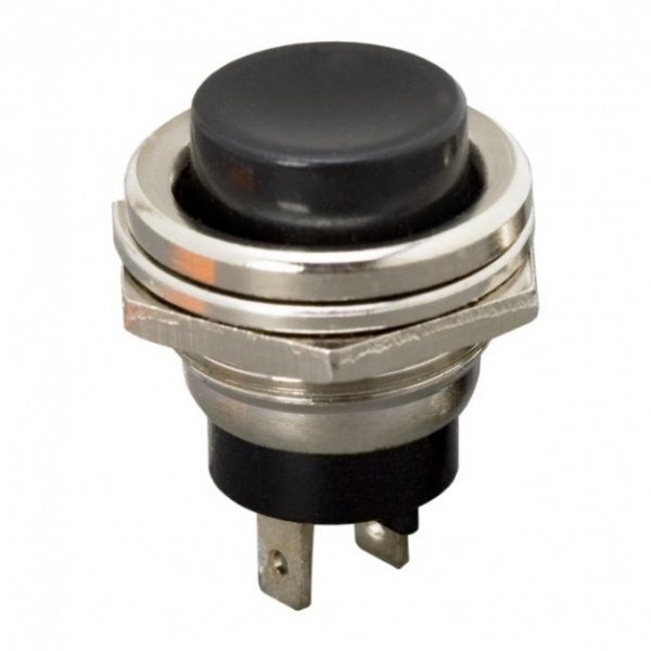 Buton 1 Circuit 2A-250V OFF-ON Negru 09065FK