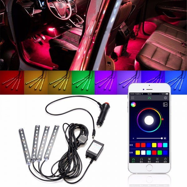 Kit Led Panel Lux Rgb 12.5CM Bluetooth