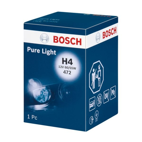 Bec Bosch H4 P43T 12V 60/55W Pure Light 1 987 302 041