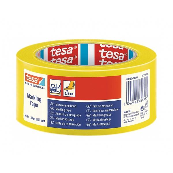 Tesa Banda Adeziva PVC Galben 33M/55MM 60760-00095-15