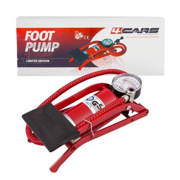 Pompa Picior 4Cars Cu Manometru 90717