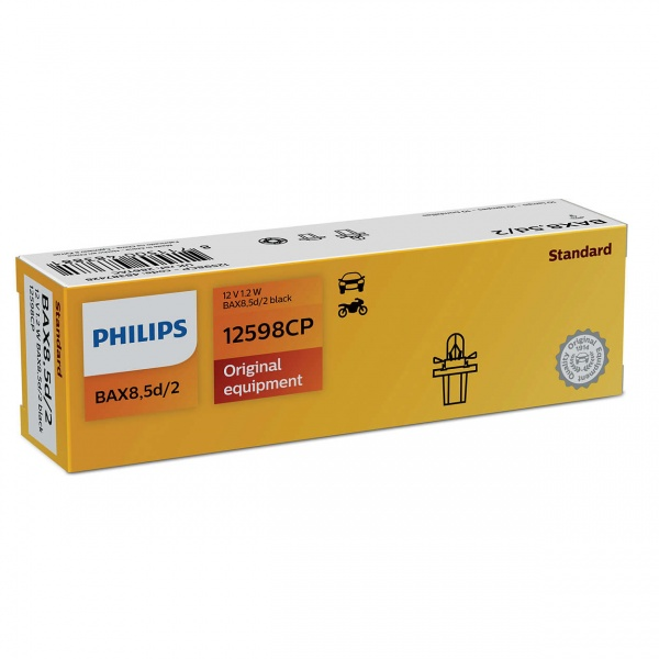 Bec Philips BAX 8.5D 12V 1.2W 12598CP