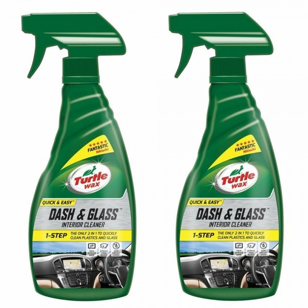 Pachet 2 Buc Turtle Wax Solutie Curatat Bord Si Geamuri Dash And Glass Interior Cleaner 500ML FG52803
