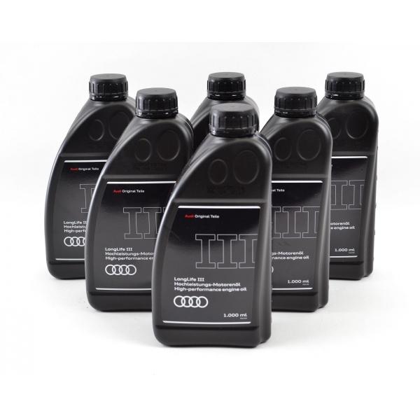 Pachet 6 Buc Ulei motor Audi Longlife III 5W-30 1L GAU052195M2