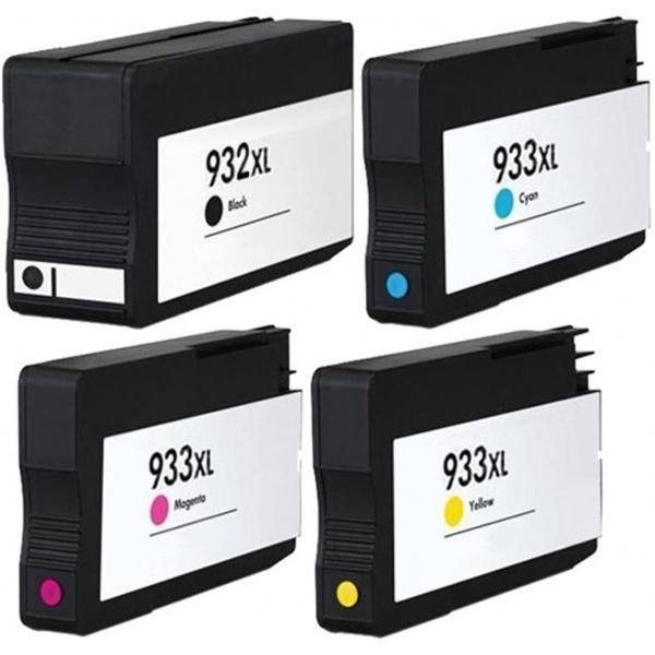 Pachet 4 Cartuse Imprimanta Compatibil HP 932XL / 933XL CMY Capacitate mare