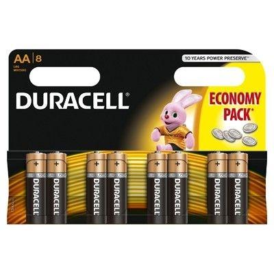 Set X 8 Baterii AA Basic Duracell 30500627