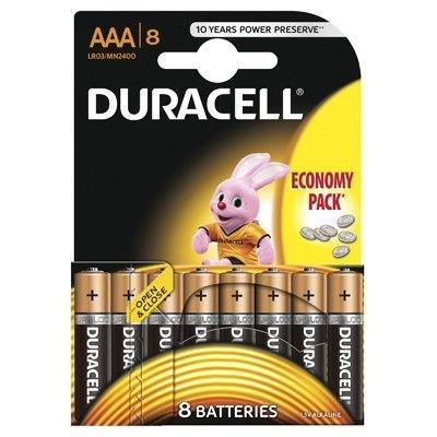 Set X 8 Baterii AAA LR03 Duracell 30500964