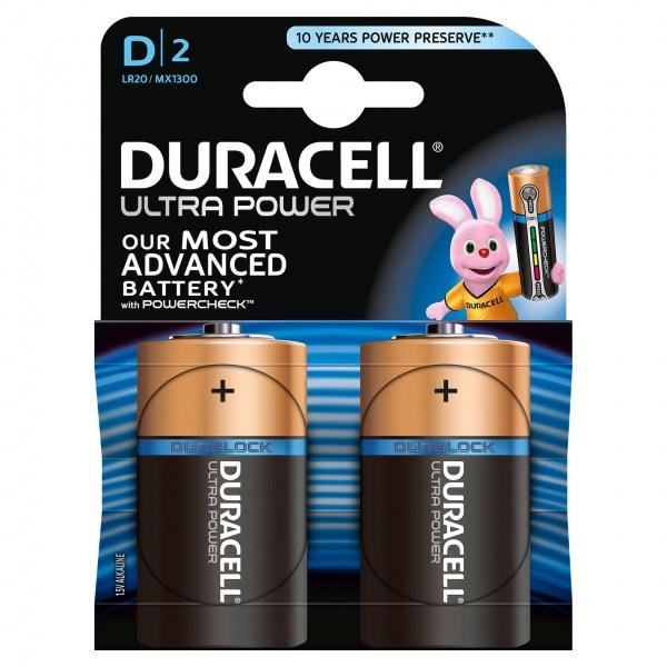 Set X 2 Baterii D LR20 Ultra Power Duracell 30501808
