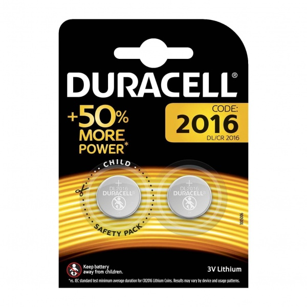 Set X 2 Baterii DL/CR 2016 Duracell 30501821