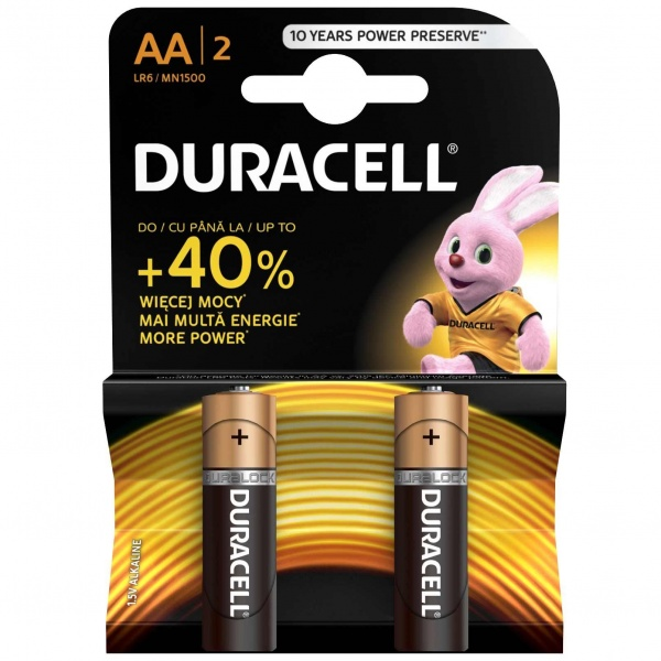 Set X 2 Baterii AA LR06 Duracell 32002524