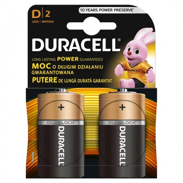 Set X 2 Baterii D LR20 Duracell 32005893
