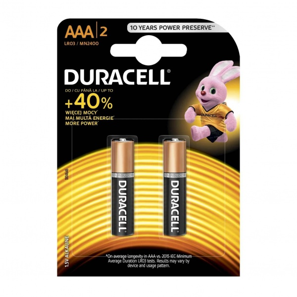 Set X 2 Baterii AAA LR03 Duracell 32006428