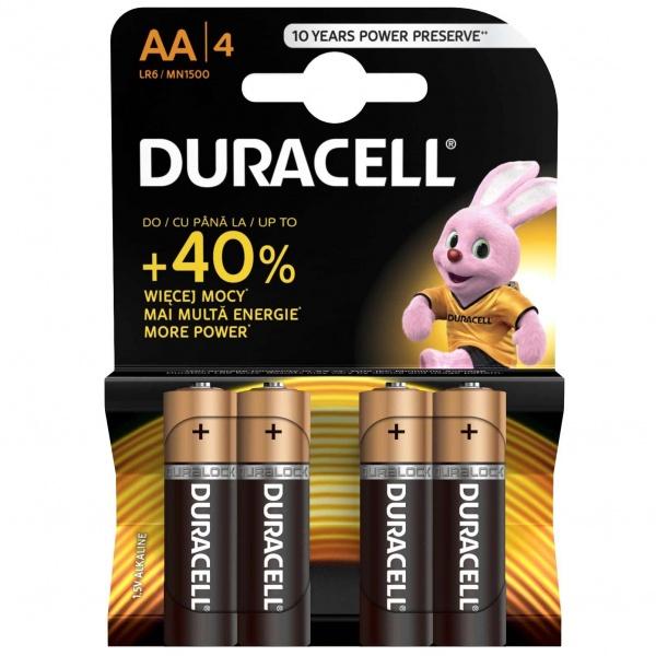 Set X 4 Bateri AA LR6 Duracell 32009537