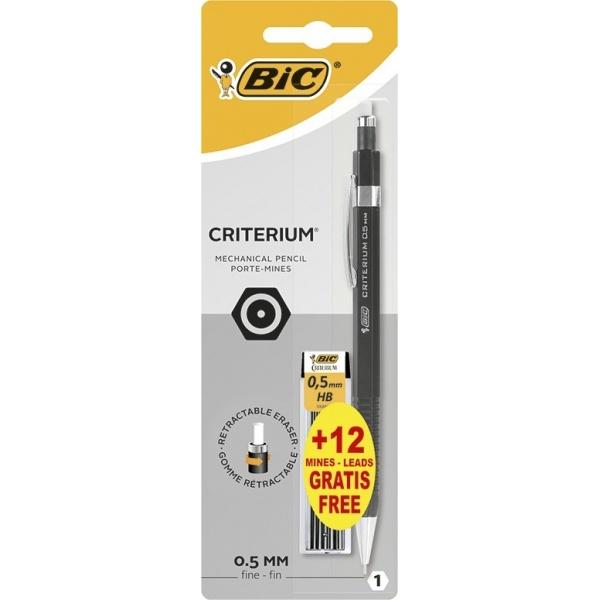 Bic Creion Mecanic Criterium 0.5mm + 12 Mine 0.5 mm 32517470