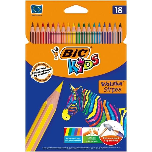 Bic Creioane Colorate Evolution Stripes 18 Buc 32524859