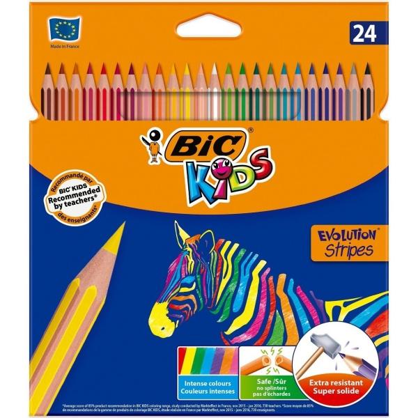 Bic Creioane Colorate Evolution Stripes 24 Buc 32524860