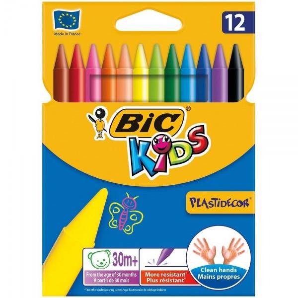 Bic Creioane Cerate Plastifiate Plastidecor 12 Bucati 36003417