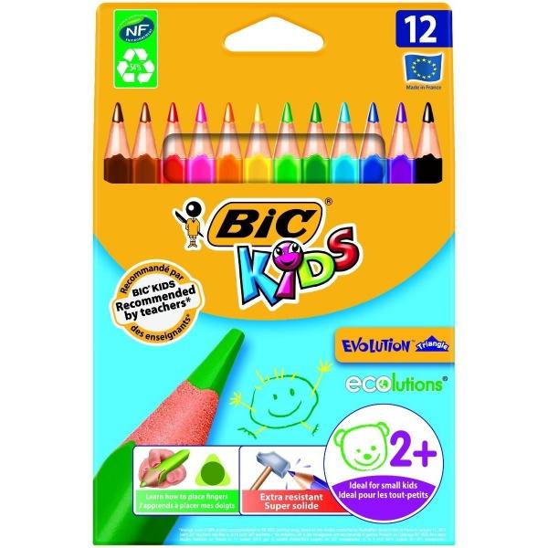 Bic Creioane Colorate Evolution Triunghiulare 12 Bucati 36008906