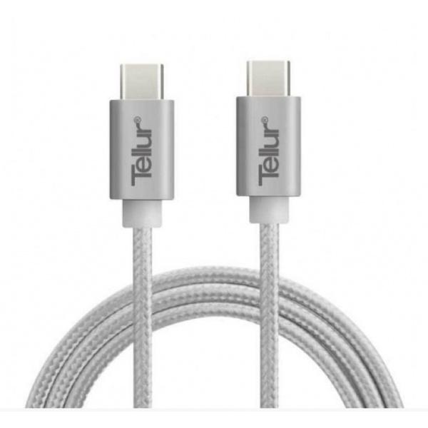 Tellur Cablu USB Type-C la USB Type-C Nylon 1M Argintiu 42504111