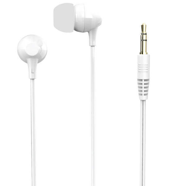 Poss Casti In-ear Microfon Jack 3.5MM Alb PSEAR180