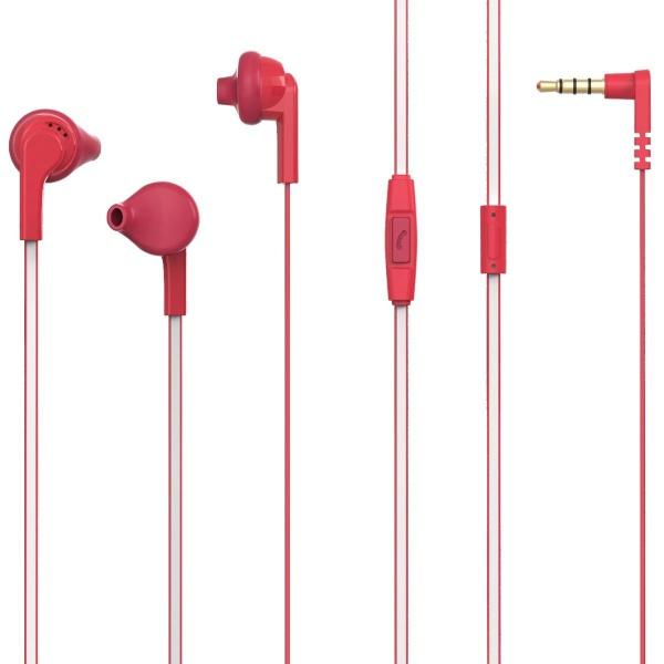 Poss Casti In-ear Microfon Jack 1.2M 3.5MM Rosu PSINTM10RD