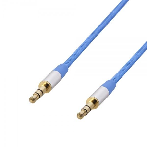Poss Cablu Audio Jack M/M 1.5M 3.5MM Albastru PSJAV150BL