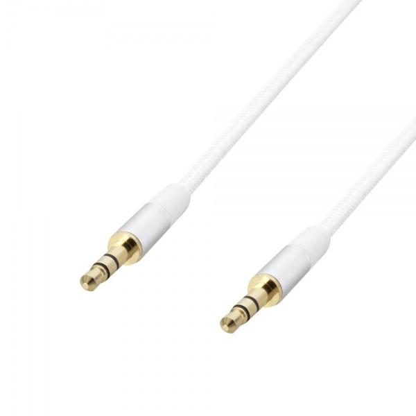 Poss Cablu Audio Jack M/M 1.5M  3.5MM Alb PSJAV150BL